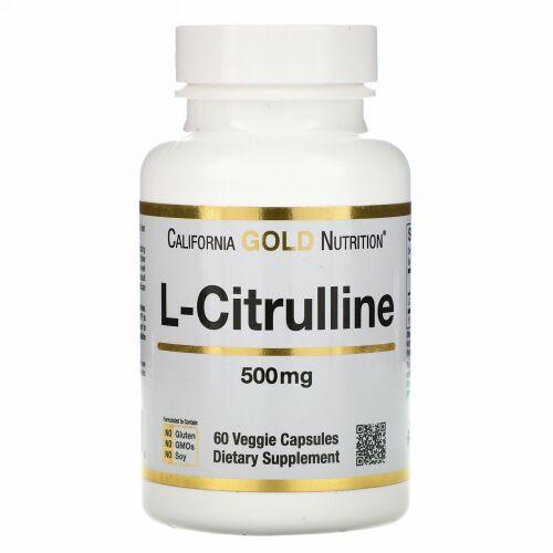 California Gold Nutrition, L-シトルリン、500mg、ベジカプセル60粒