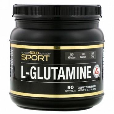 California Gold Nutrition, L-グルタミンパウダー、AjiPure(アジピュア)、グルテンフリー、454g(16オンス)