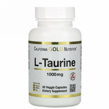 California Gold Nutrition, L-タウリン、1,000mg、ベジカプセル60粒