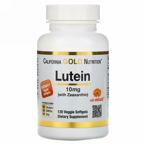 California Gold Nutrition, ゼアキサンチン配合ルテイン、10mg、植物性ソフトジェル120粒