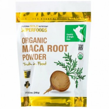 California Gold Nutrition, スーパーフード、オーガニックマカ根粉末、240g(8.5オンス)