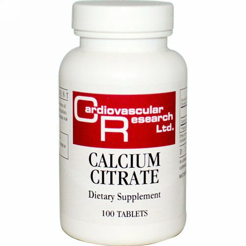 Cardiovascular Research, クエン酸カルシウム, 100 タブレット (Discontinued Item)