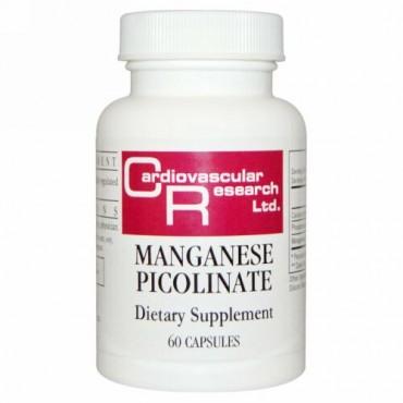 Cardiovascular Research, マンガンピコリン酸、60カプセル