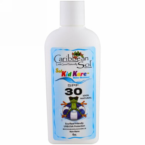 Caribbean Solutions, ソルガードSPF30、 耐水性、6 oz