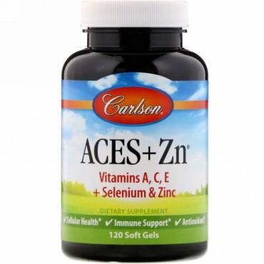 Carlson Labs, Aces + Zn, ソフトジェル 120 粒