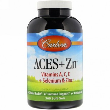 Carlson Labs, Aces + Zn、ソフトジェル360錠