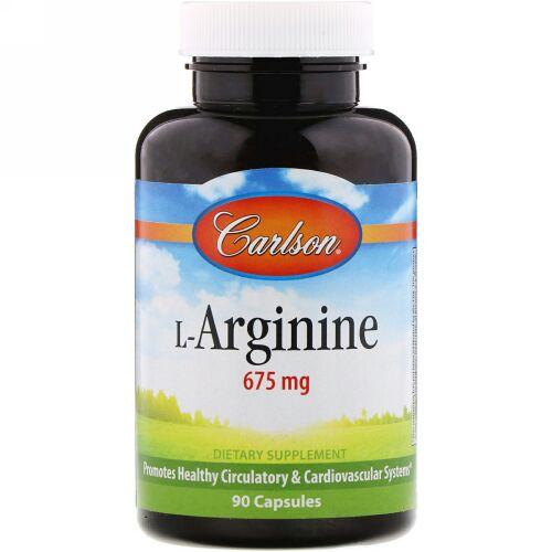 Carlson Labs, L-アルギニン、 675 mg、カプセル 90錠 (Discontinued Item)