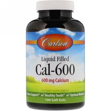 Carlson Labs, 液体封入Cal-600、600 mg、100ソフトジェル