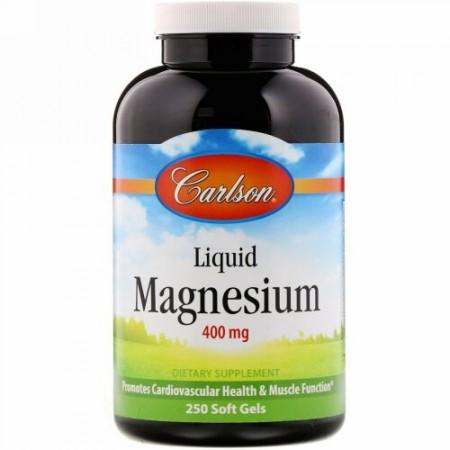 Carlson Labs, 液体マグネシウム、 400 mg、 250ソフトジェル