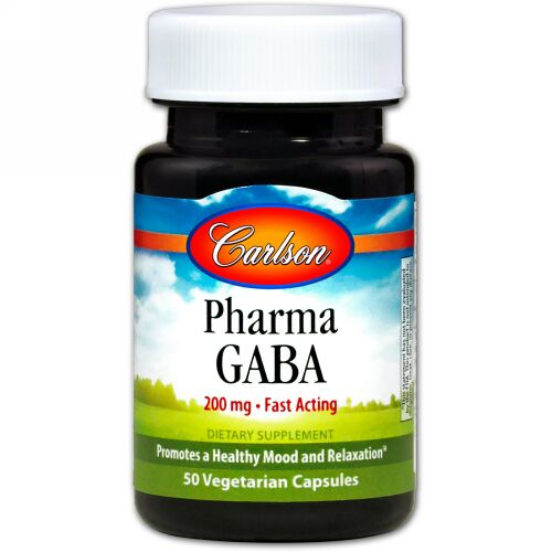 Carlson Labs, Pharma GABA、200 mg、ベジキャップ50個 (Discontinued Item)
