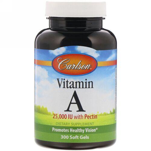 Carlson Labs, ビタミンA、25,000 I.U.、ソフトジェル300粒