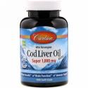 Carlson Labs, Wild Norwegian, Cod Liver Oil Gems, Super, 1,000 mg, 100 Soft Gels
