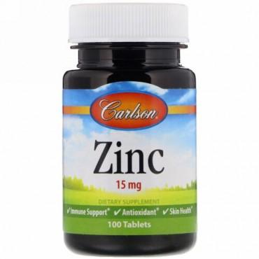 Carlson Labs, Zinc, 15 mg , 100 Tablets