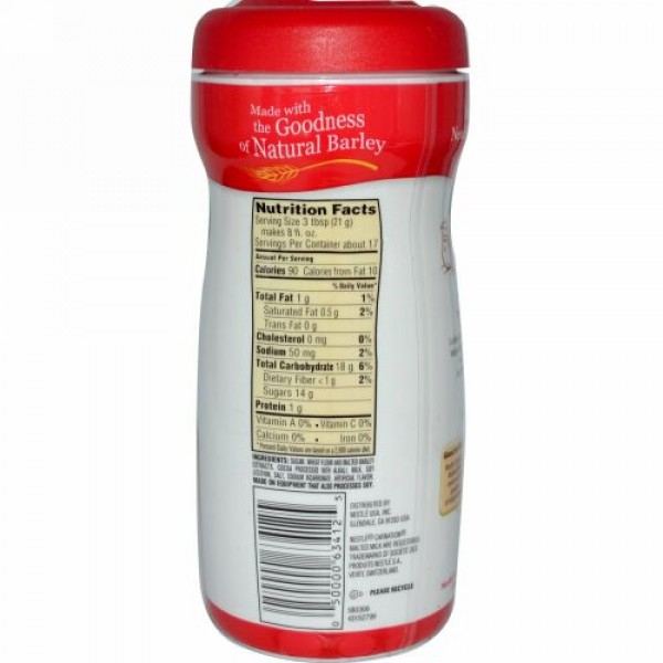 Carnation Milk, 麦芽ミルク, チョコレート, 13 オンス (368 g) (Discontinued Item)