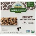Cascadian Farm, オーガニックチュウイーグラノーラバー、ダークチョコレートチップ、6本、各35g(1.2 oz)