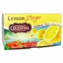 Celestial Seasonings, ハーブティー、カフェインフリー、レモンジンジャー、ティーバッグ20袋、1.7 oz (47 g)