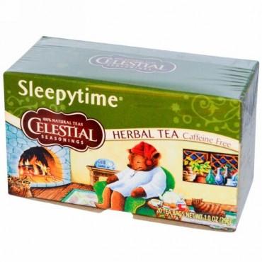 Celestial Seasonings, ハーブティー、スリーピータイム、カフェインフリー、 20ティーバッグ