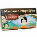 Celestial Seasonings, マンダリンオレンジ スパイス ハーブティー、カフェインレス、20ティーバッグ、1.9 oz (54 g) (Discontinued Item)