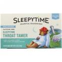 Celestial Seasonings, Sleepytime Throat Tamer, Wellness Tea, 20 Tea Bags (8 fl oz) Each (Discontinued Item)