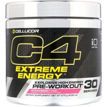Cellucor, C4エクストリームエネルギー、プレワークアウト、ストロベリーキウイ風味、270g(9.52オンス) (Discontinued Item)