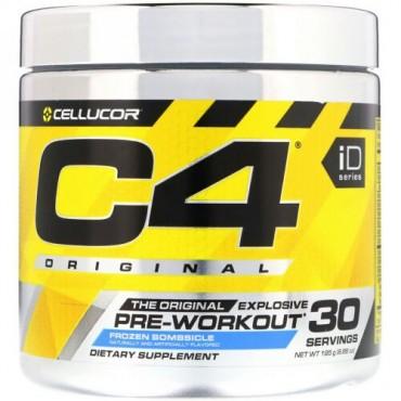 Cellucor, C4オリジナル・エクスプローシブ、プレワークアウト、フローズンボムシクル、6.88オンス(195g) (Discontinued Item)