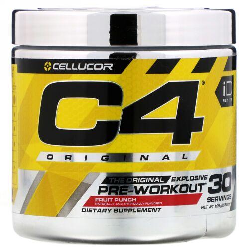 Cellucor, C4 Original Explosive(オリジナルエクスプローシブ),プレワークアウト, フルーツパンチ, 195g(6.88 oz)