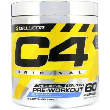 Cellucor, C4オリジナル・エクスプローシブ、プレワークアウト、アイシーブルーラズ、13.8オンス (390g)