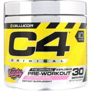 Cellucor, C4オリジナルエクスプローシブ、プレワークアウト、ジューシーキャンディバースト、6.88 oz (195 g) (Discontinued Item)