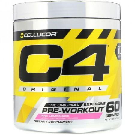 Cellucor, C4オリジナルエクスプローシブ、プレワークアウト、ピンクレモネード、13.8オンス (390 g)