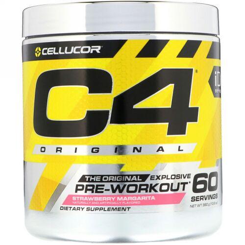 Cellucor, C4 Original Explosive(オリジナルエクスプローシブ)、プレワークアウト、ストロベリーマルガリータ、390g(13.8oz)
