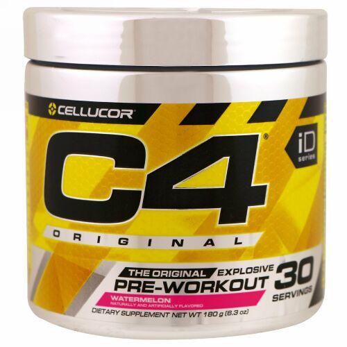 Cellucor, C4 オリジナル エクスプローシブ、プレ・ワークアウト、ウォーターメロン、6.3 oz (180 g)
