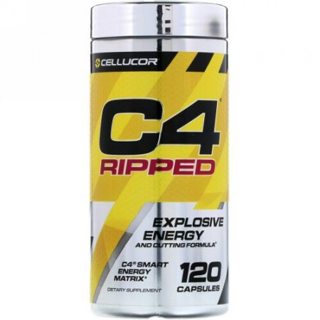 Cellucor, C4リップド、エクスプローシブエネルギー、120カプセル (Discontinued Item)