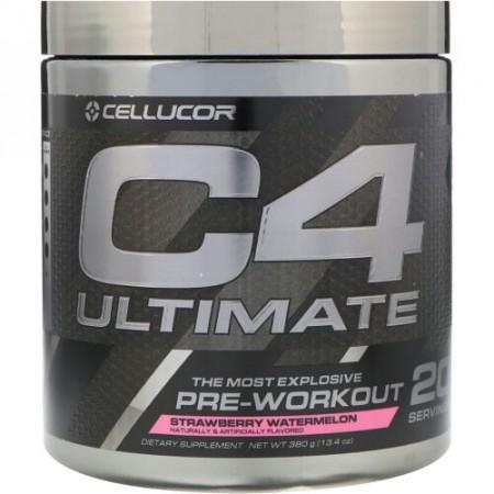 Cellucor, C4アルティメット、プレワークアウト、イチゴスイカ、13.4 oz (380 g) (Discontinued Item)