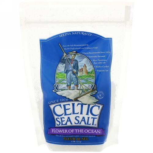 Celtic Sea Salt, Flower of The Ocean, 1/2 lb (227 g) (Discontinued Item)