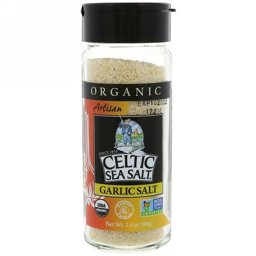 Celtic Sea Salt, Organic, Artisan, Garlic Salt, 2.4 oz (68 g) (Discontinued Item)