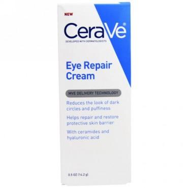 CeraVe, アイリペア クリーム、 0.5 oz (14.2 g) (Discontinued Item)