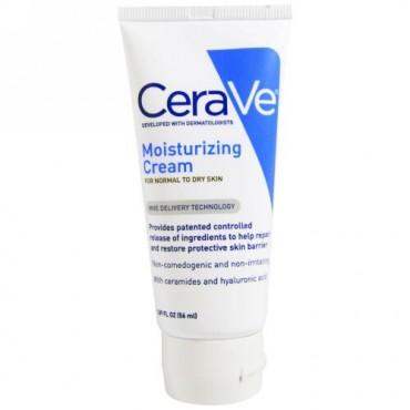 CeraVe, モイスチャライジングクリーム、普通から乾燥肌用、1.89液量オンス (56 ml) (Discontinued Item)