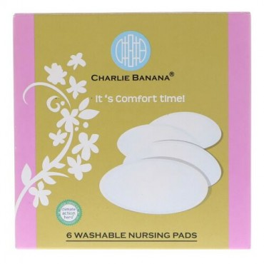 Charlie Banana, Washable Nursing Pads, Black, 6 Pads (Discontinued Item)