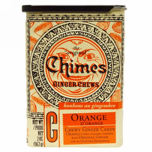 Chimes, Ginger Chews, Orange, 2 oz. (Discontinued Item)