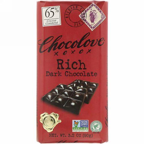 Chocolove, Rich Dark Chocolate, 65% Cocoa, 3.2 oz (90 g)