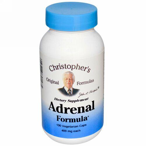 Christopher's Original Formulas, Adrenal Formula, 400 mg, 100 Vegetarian Caps