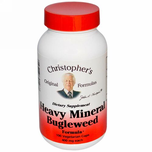 Christopher's Original Formulas, Heavy Mineral Bugleweed Formula, 400 mg, 100 Vegetarian Caps