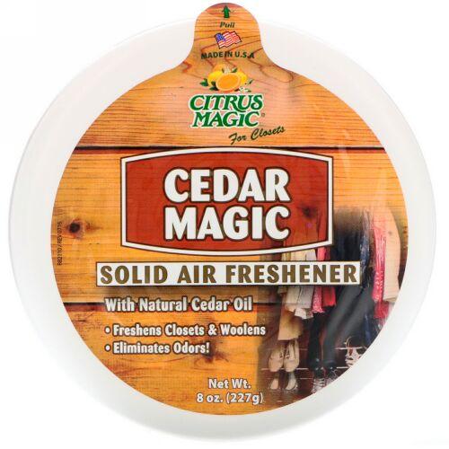 Citrus Magic, シーダーマジック、ソリッドエアーフレッシュナー、8 oz (227 g) (Discontinued Item)