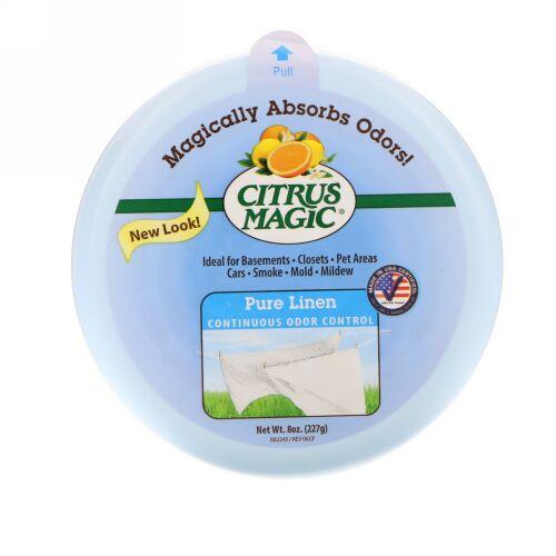 Citrus Magic, ソリッド・エアフレッシュナー、ピュアリンネル、8 oz (227 g) (Discontinued Item)