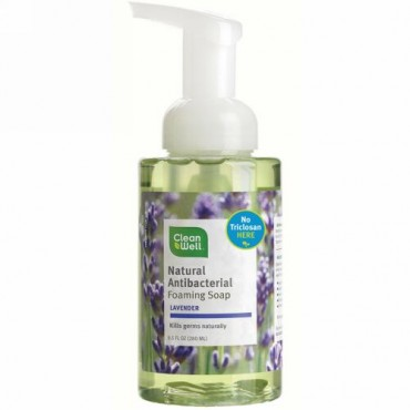 CleanWell, 天然抗菌泡ソープ、ラベンダー、9.5 液量オンス (280 ml) (Discontinued Item)