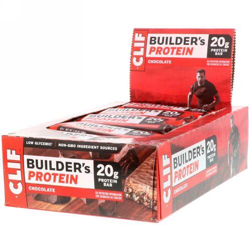 Clif Bar, Builder's プロテインバー、チョコレート、 バー 12 本、各 2.40 オンス (68 g)