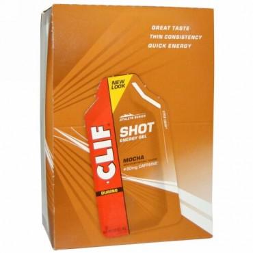 Clif Bar, クリフ ショット エナジージェル、モカ、+50 mg カフェイン、24 袋、各 1.20 oz (34 g)