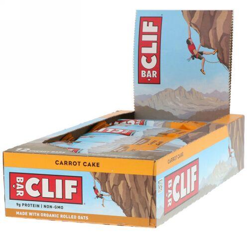 Clif Bar, エナジーバー、キャロットケーキ、12本、各2.40オンス (68 g)
