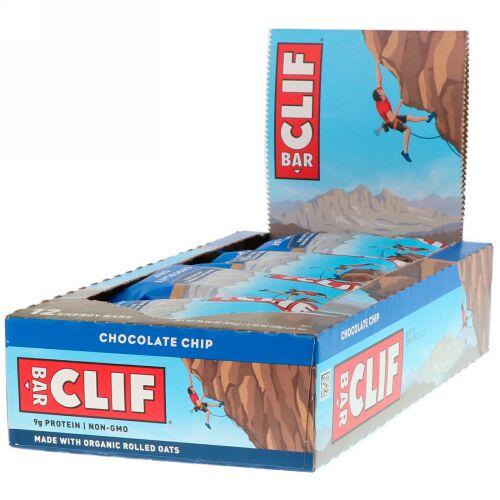 Clif Bar, エナジーバー、チョコレートチップ、12本、各2.40 oz (68 g)