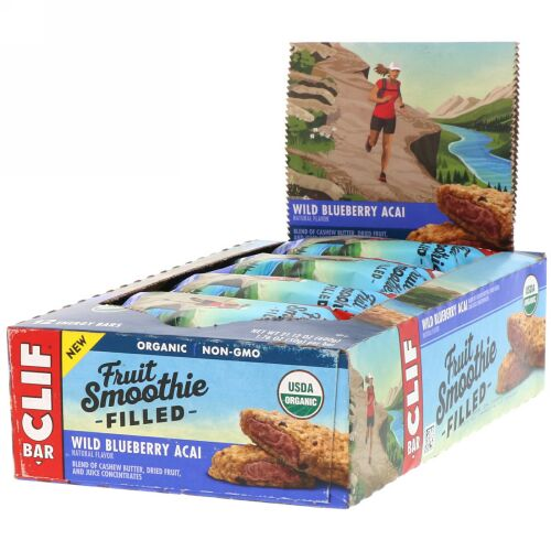 Clif Bar, Energy Bar, Wild Blueberry Acai, 12 Bars, 1.76 oz (50 g) Each (Discontinued Item)